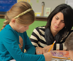 Fundations one-on-one with student