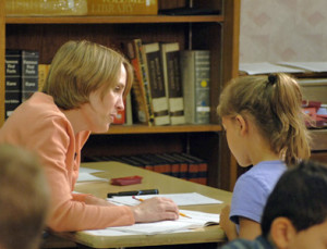 Wilson Reading system teacher one on one with student