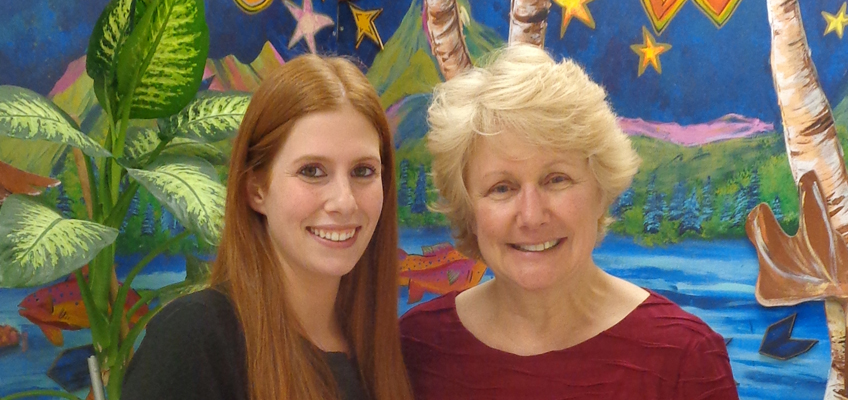 Wilson Credentialed Trainer Donna Forbes is visited by her WRS practicum student, Gina, who is earning her master's degree.