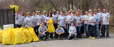 Wilson employees pick up trash for Earth Day