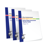 Wilson Reading System End of Step Assessment set for steps 1 through 6