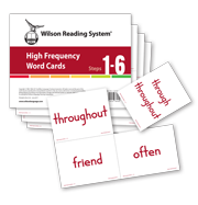 Wilson Reading System 4th Edition High Frequency Word Cards for Steps 1 through 6