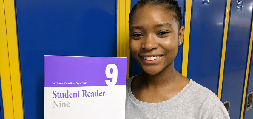 WRS helped New Jersey middle school student Saniah overcome a learning disability to become a fluent reader.