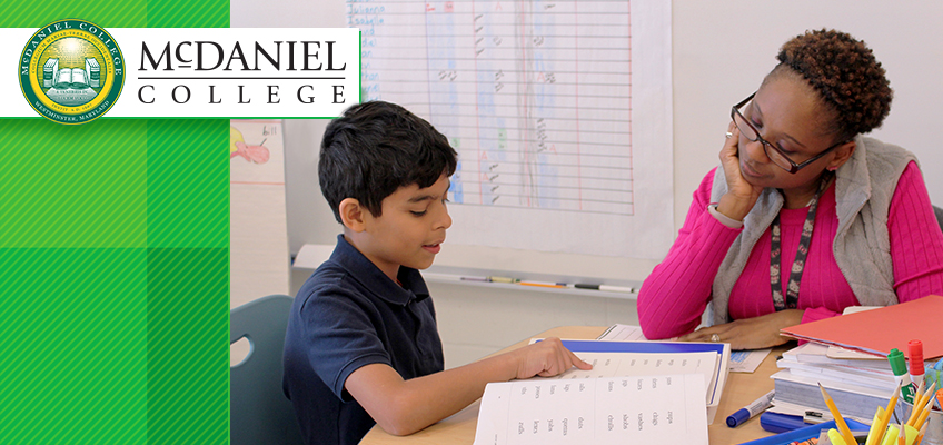 McDaniel Educator in Training with Student