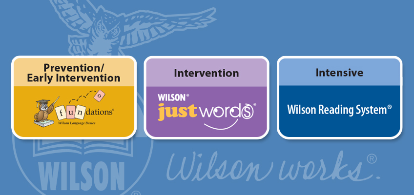 Fundations Just Words and Wilson Reading System