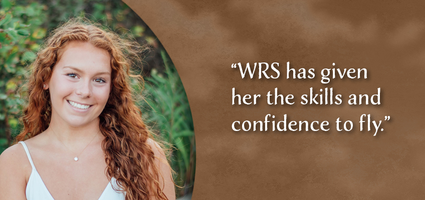 WRS has given her the skills and confidence to fly.