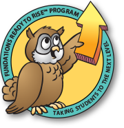 Echo the owl holding an Arrow for the Ready to Rise Program