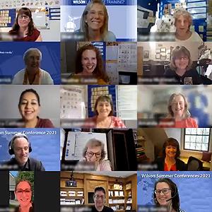 Wilson Literacy Team meeting on Zoom
